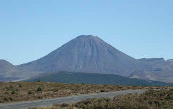 Mount Ngauruhoe - the youngest vent in the Tongariro volcanic complex on the Central Plateau, featured in the Lord of the Rings as 'Mount Doom'
