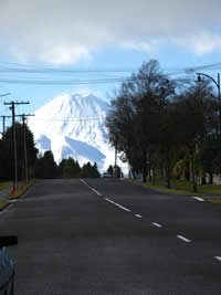 Ngauruhoe from National park Village, Tongariro National Park
