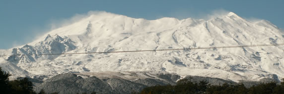 Mt Ruapehu Ski Field in Winter